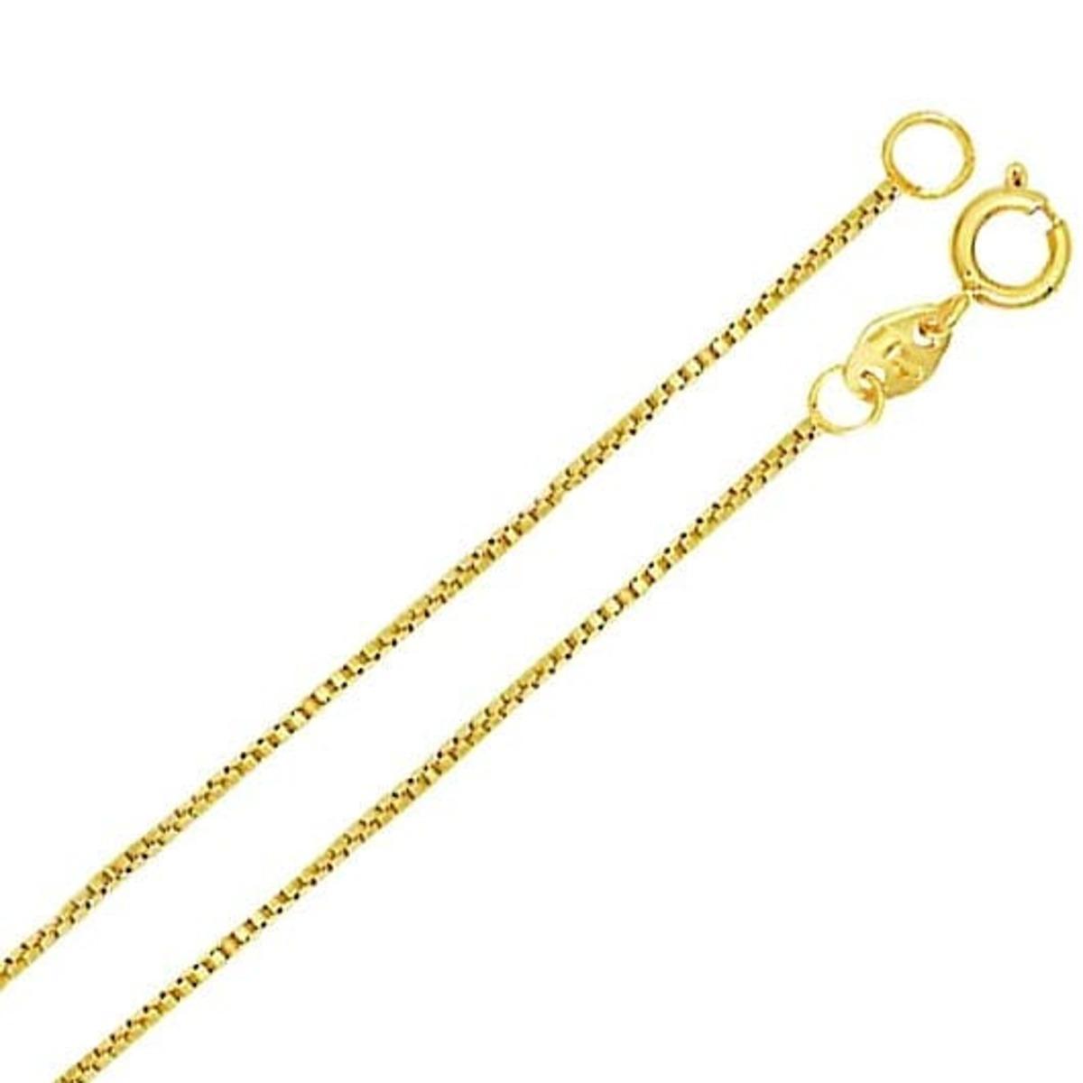 Colar Cordão Veneziana 0.8mm 60cm Banho De Ouro 18k 4760