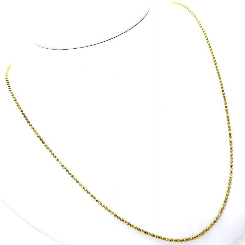 Corrente De Bolinhas 80cm Banho De Ouro 18k 1819