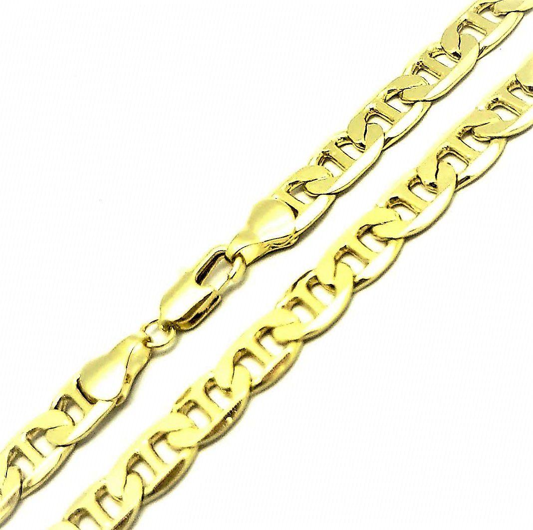 Corrente Masculina Piastrine 7mm 70cm Banho Ouro 18k 4693