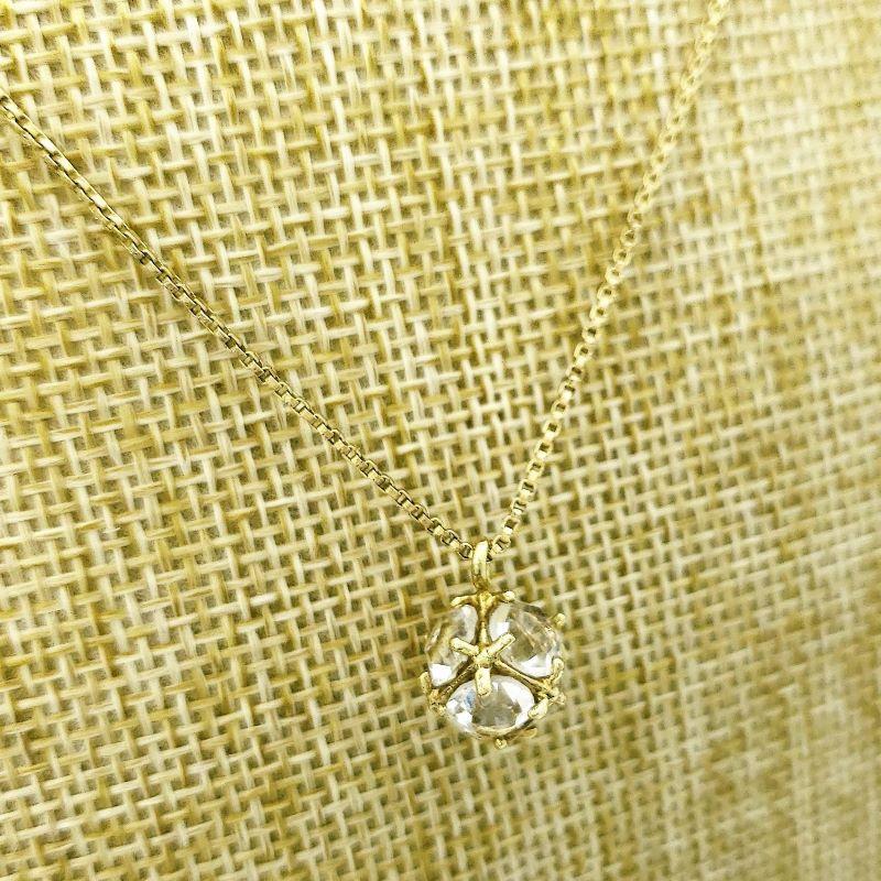 Corrente Veneziana Com Pingente Cubo De Zirconia Banho De Ouro 18k 2171