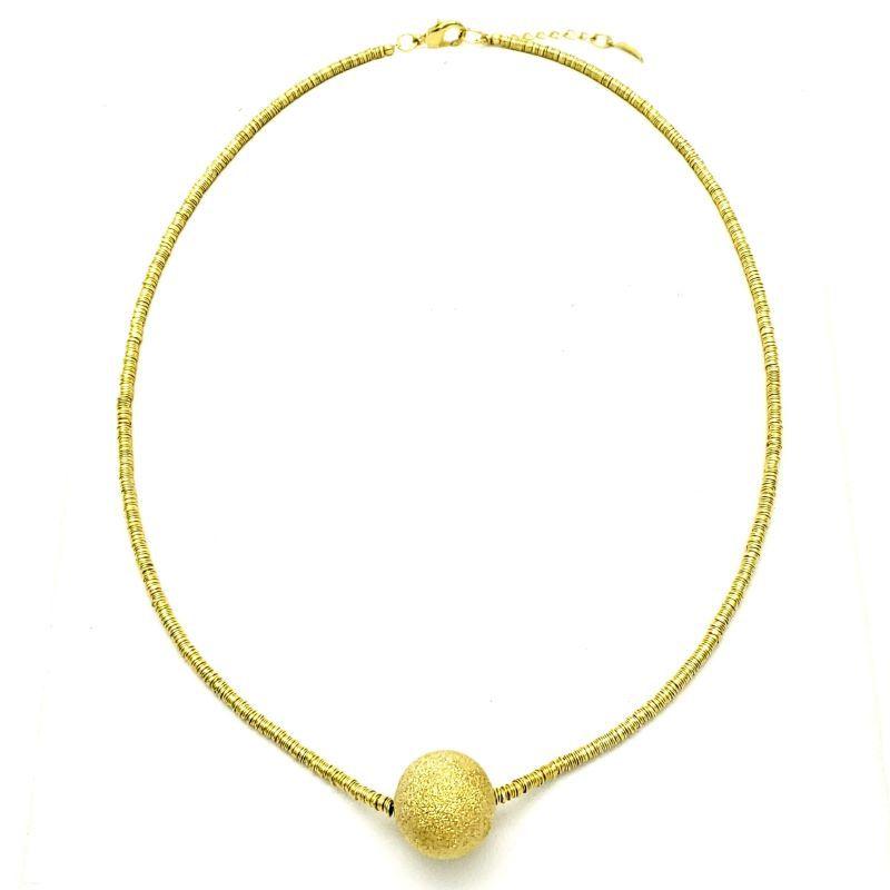 Colar Com Pingente Diamantado Banho De Ouro 18k 1743