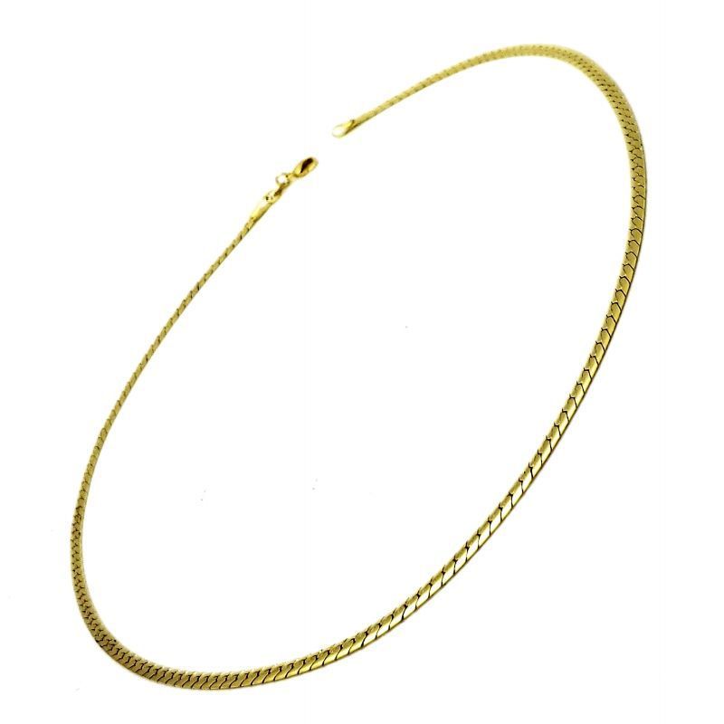 Gargantilha Elos Cobra 3,1mm 50cm Banho De Ouro 18k 3098