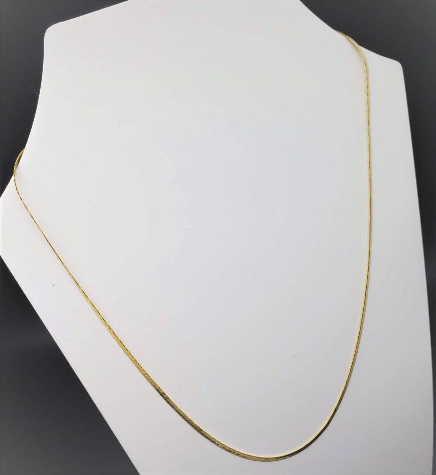 Gargantilha Malha Italiana 60cm Banho De Ouro 18k 1238