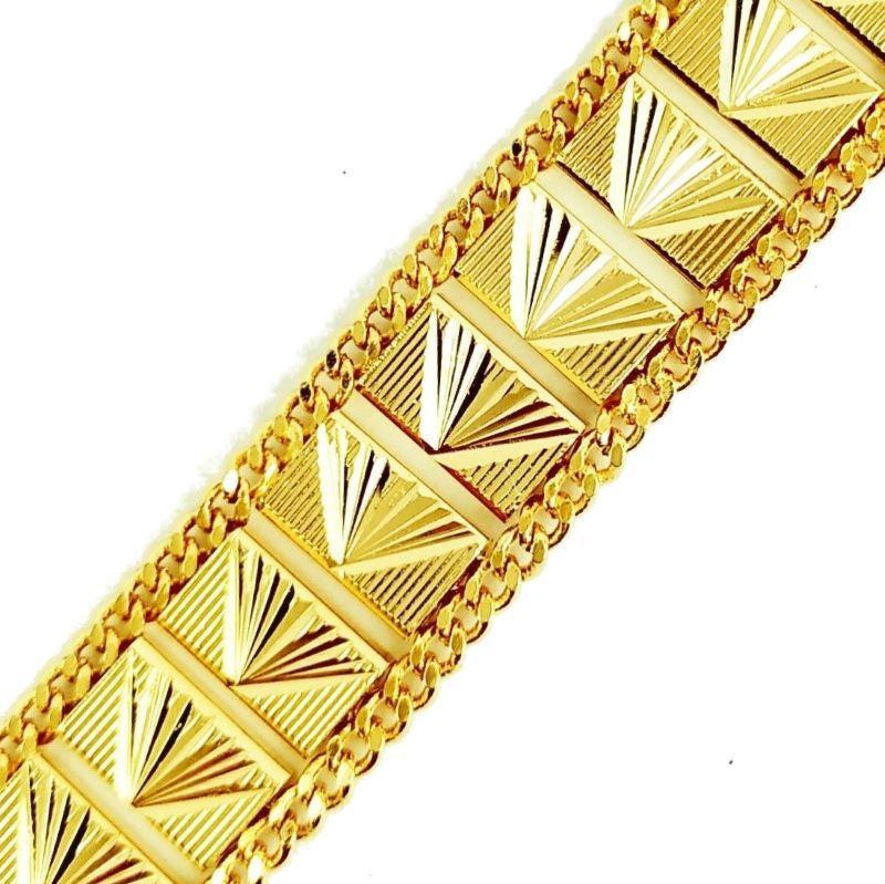Pulseira Diamantada Feminina Banhada A Ouro 18k 1219