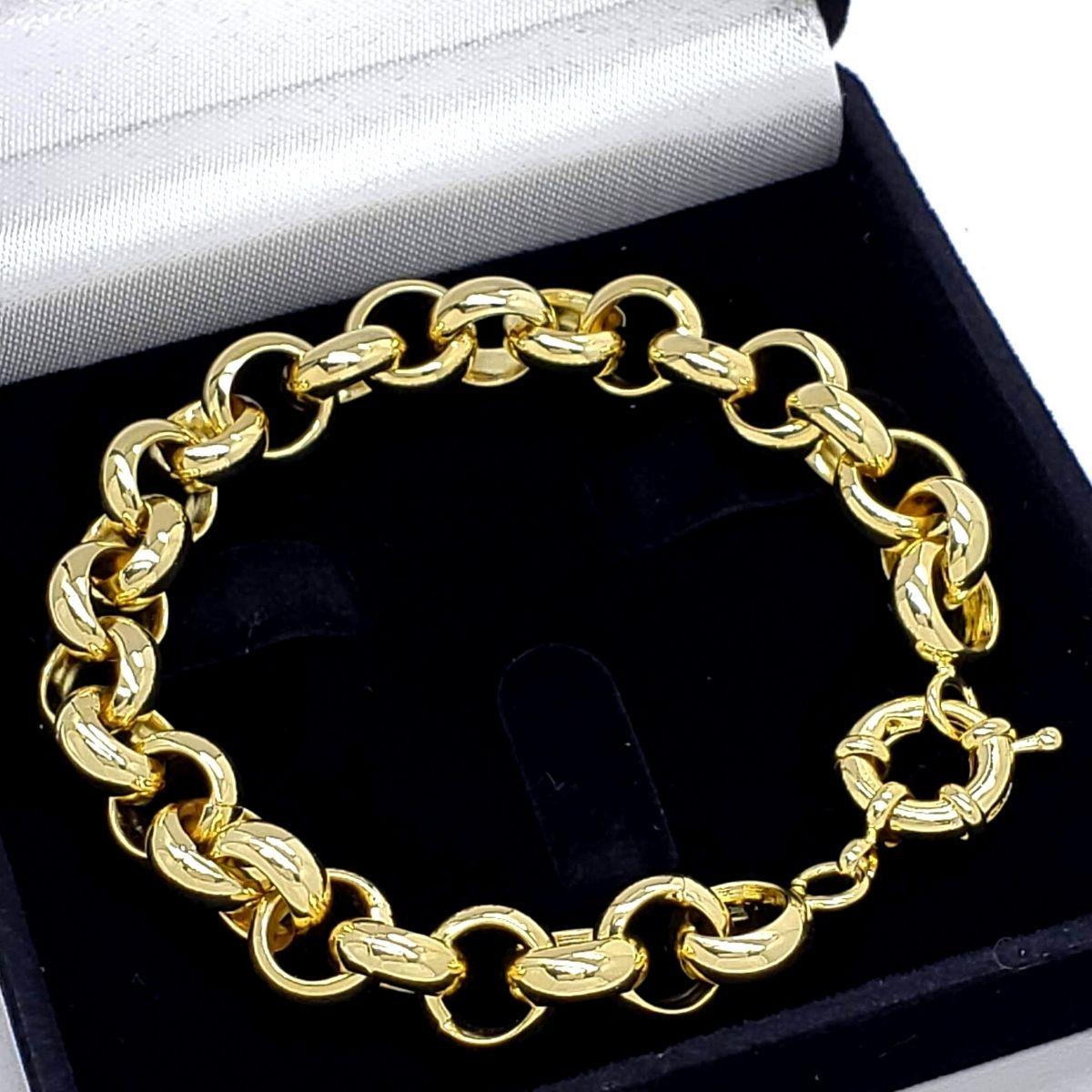 Pulseira Elos Portugueses 11mm Banho Ouro 18k 1797A
