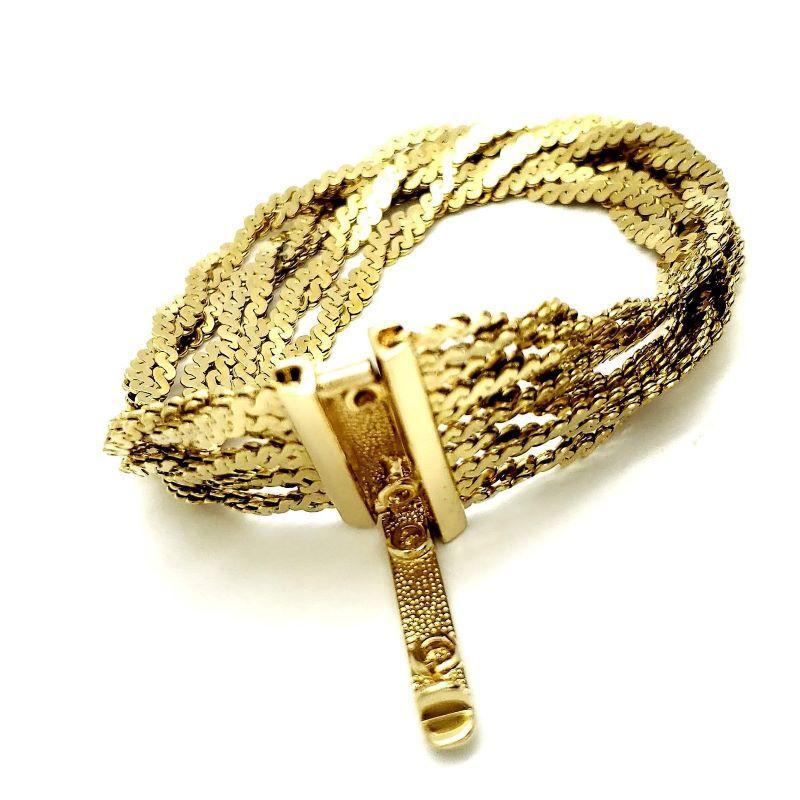 Pulseira Florin Fios Serpentina Banho De Ouro 18k 1114