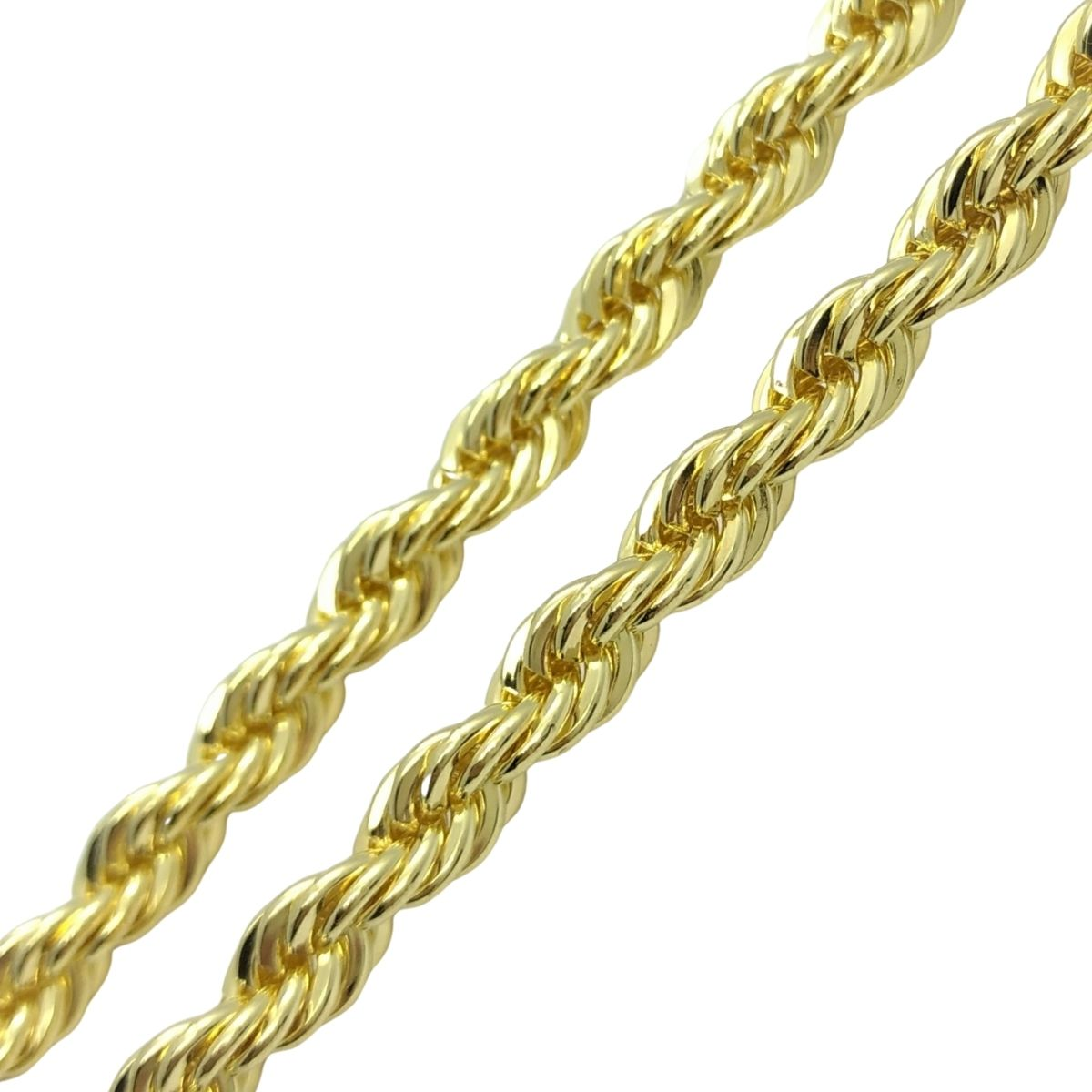 Pulseira Masculina Cordão Baiano 6.0 23cm Banho De Ouro 18k 2354