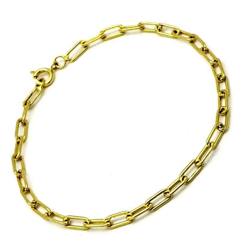 Pulseira Masculina 20cm Banho De Ouro 18k 1216