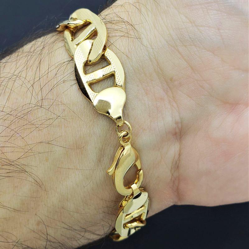 Pulseira Masculina Piastrine Super Banho De Ouro 18k 1567
