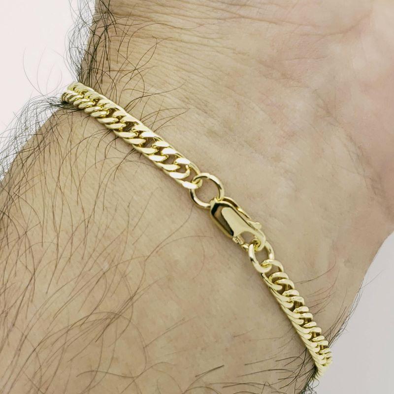 Pulseira Masculina Grumet 21cm Banho De Ouro 18k 4718