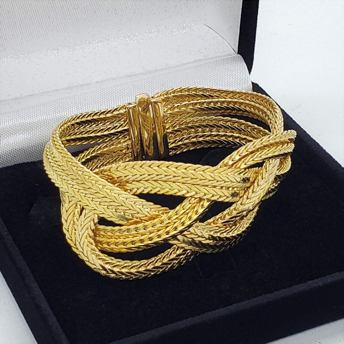Pulseira Vênus Enlaces Banho De Ouro 18k 1109