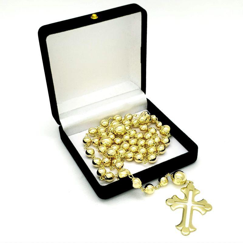 Terço De Noiva Para Casamento Matrimonio Banho Ouro 18k 4509