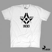 300 anos  Camiseta Esquadro Compasso 300 Hi-Tech