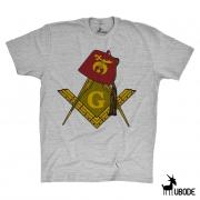 Bazar - Camiseta Shriners com Esquadro e Compasso