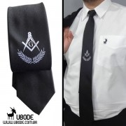 Camisa manga longa UBODE + Gravata Esquadro Compasso bordado central