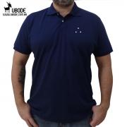 Camisa Pólo Azul Marinho 3 pontos