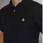 Camisa Pólo Preta Esquadro Compasso