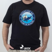 Camiseta Bodes do Ar - Impressão Frente - PRETA