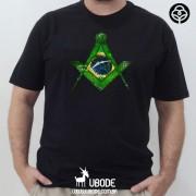 Camiseta Esquadro e Compasso Bandeira