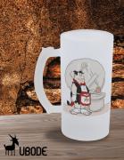Caneca de Chopp -  Fred Flintstones vermelho