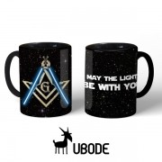 Caneca MAY THE LIGHT BE WITH YOU