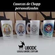 Kit  2 Canecas de Chopp (com ilustração e personalização)