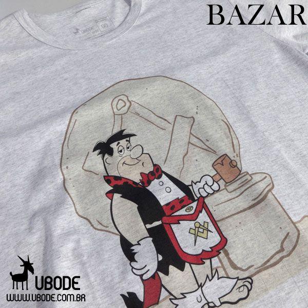 Bazar - Camiseta Fred Flintstone Vermelho