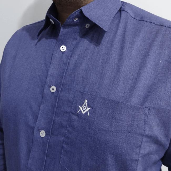 Camisa manga longa Esquadro e Compasso - Azul