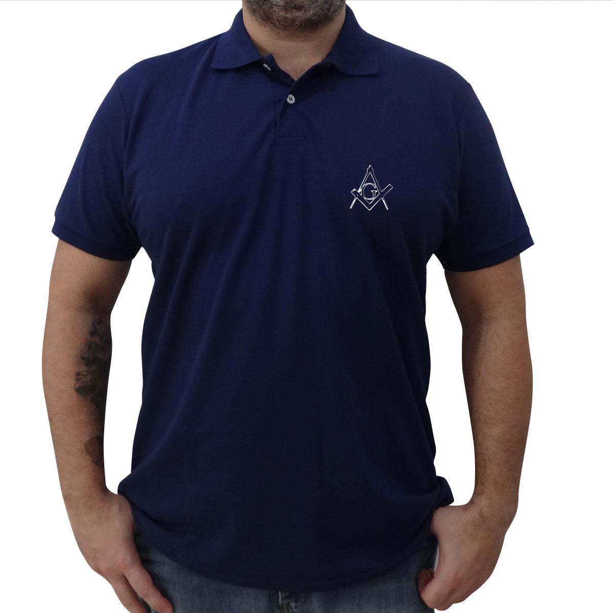 Camisa Pólo Azul Marinho - Esquadro e Compasso