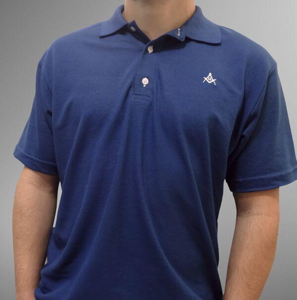 Camisa Pólo Azul Petróleo Esquadro e Compasso