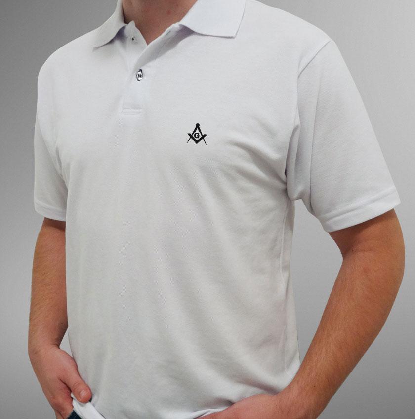 Camisa Pólo Branca Esquadro e Compasso