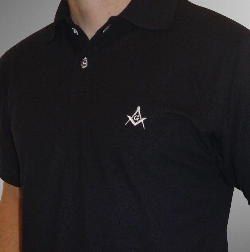 Camisa Pólo Preta Esquadro e Compasso