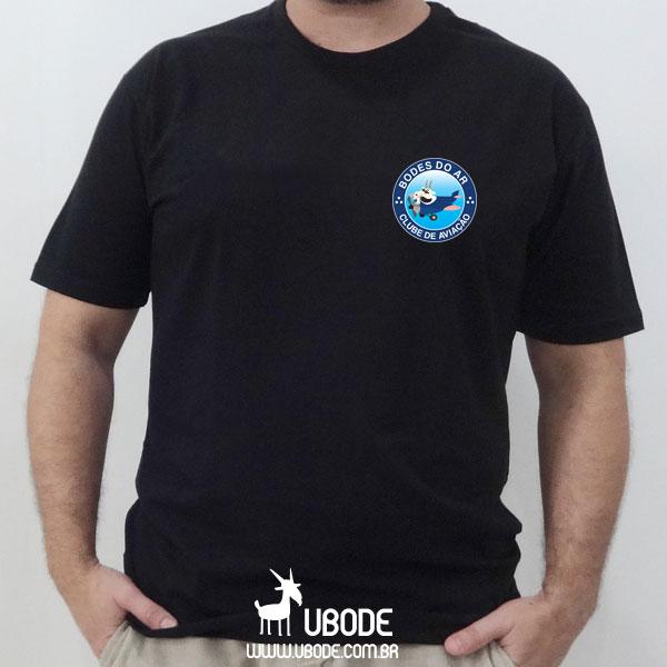 Camiseta Bodes do Ar - Impressão Frente E Costas - PRETA