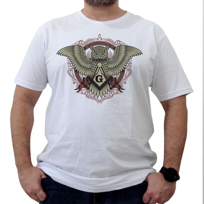 Camiseta Coruja Esquadro e Compasso
