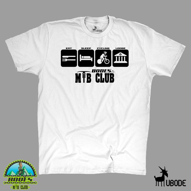 Camiseta  eat-sleep-cycling-lodge