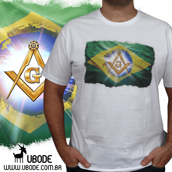 Camiseta Esquadro e Compasso na Bandeira