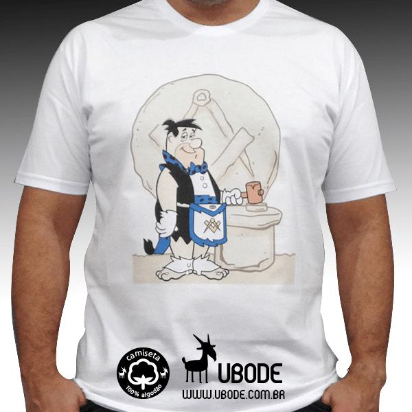 Camiseta Fred Flintstone - Azul