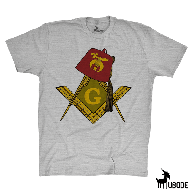 Camiseta Shriners com esquadro e compasso