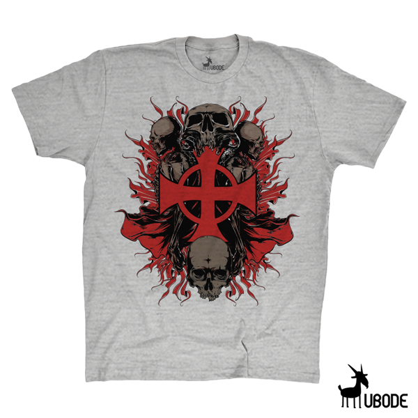 Camiseta Templar Cross Skull