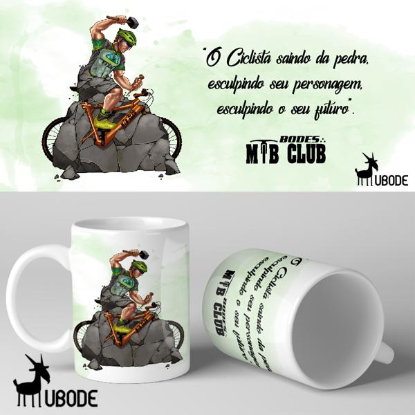 Caneca Bodes MTB - Ciclista se Lapidando