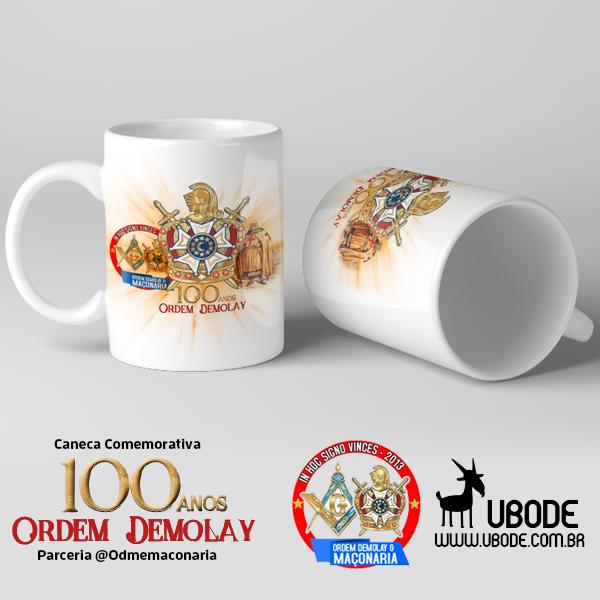 Caneca Comemorativa 100 anos Ordem Demolay