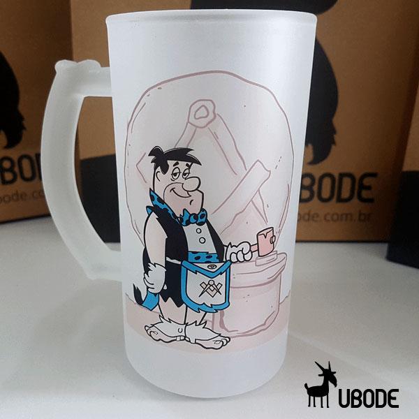 Caneca de Chopp -  Fred Flintstone - Azul