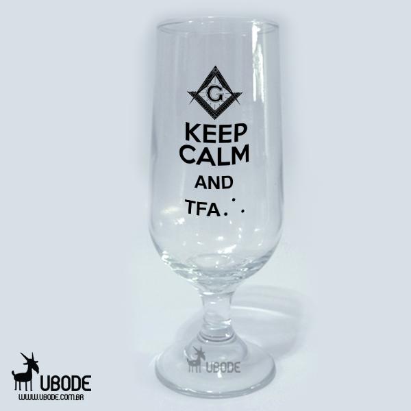 Taça de Cerveja - keep Calm