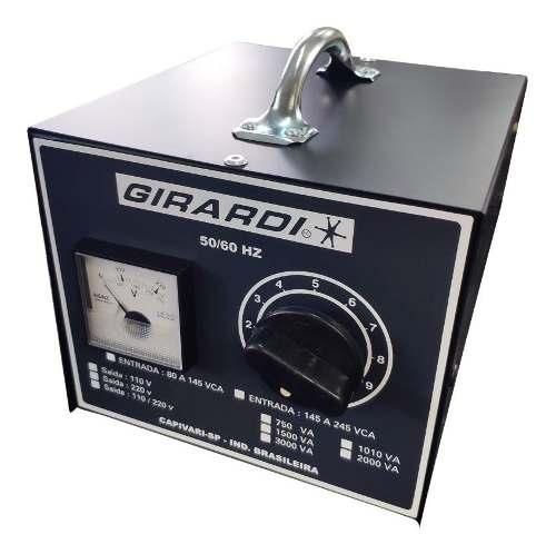 Regulador Manual De Tensão / Voltagem  Girardi 3000VA Entrada 110V Saída Bivolt