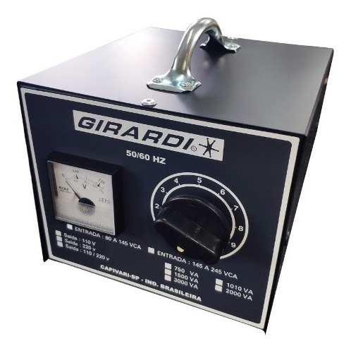 Regulador Manual De Tensão / Voltagem Girardi 1500 VA Entrada 110V Saída Bivolt
