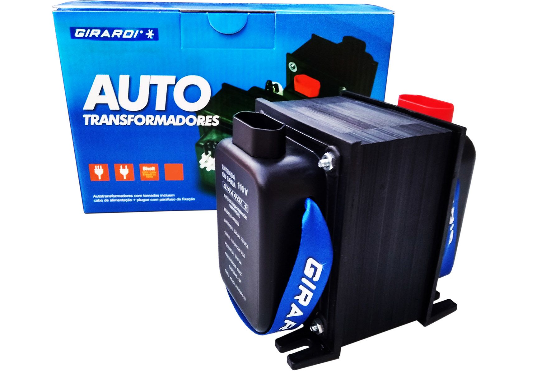 Auto Transformador Conversor Bivolt 110 / 127 e 220 V GIRARDI Profissional 2000 VA / 1400 W