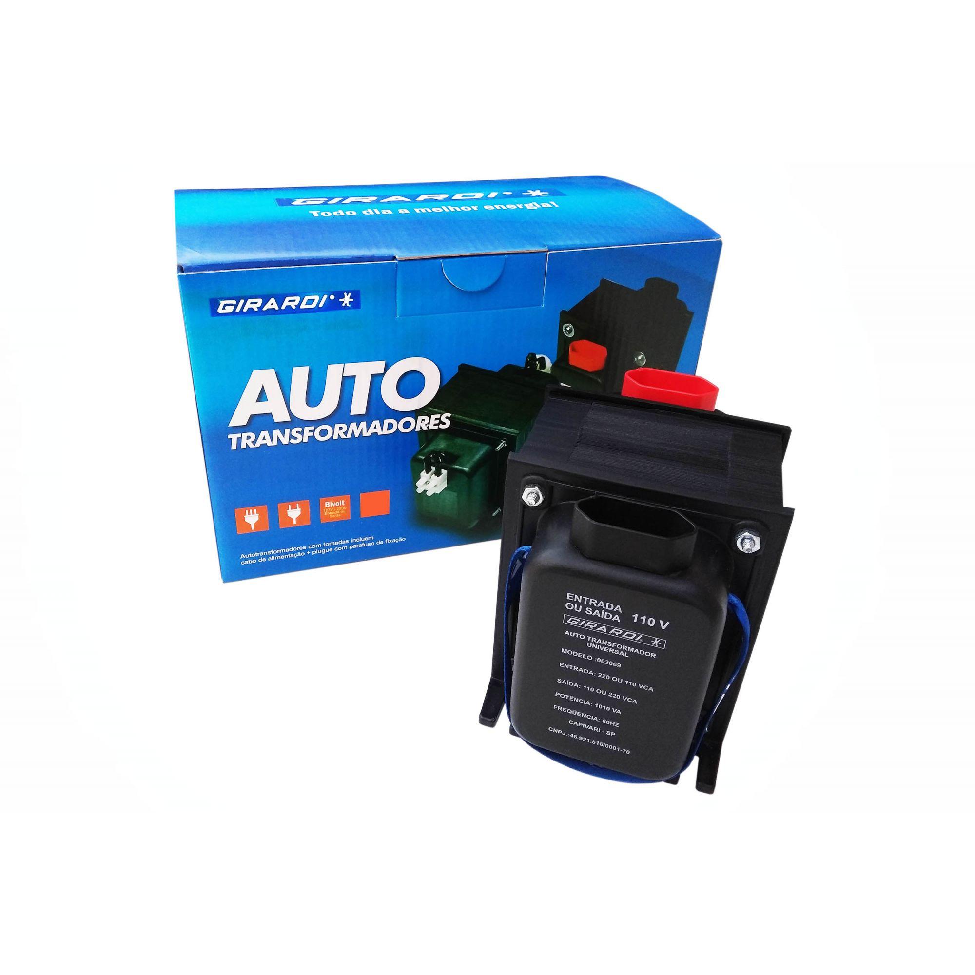 Auto Transformador Conversor Bivolt 110 / 127 e 220 V GIRARDI Profissional 750 VA / 525 W