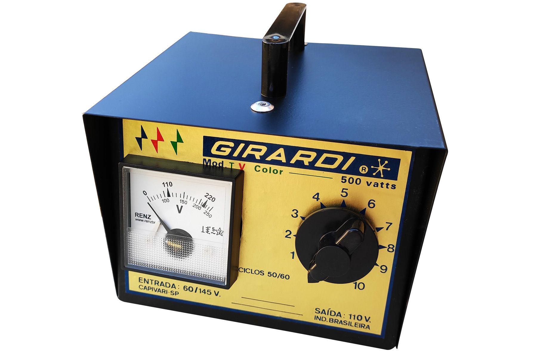 Regulador Manual De Tensão / Voltagem Girardi 500 VA Entrada 110V Saída Bivolt