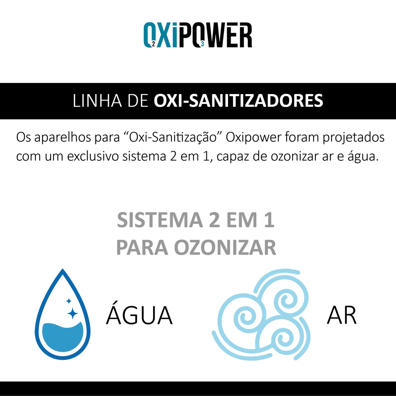 OXPW 10 - OXI-SANITIZADOR 2X1 PARA OZONIZADOR AR E ÁGUA - OXI 250.50