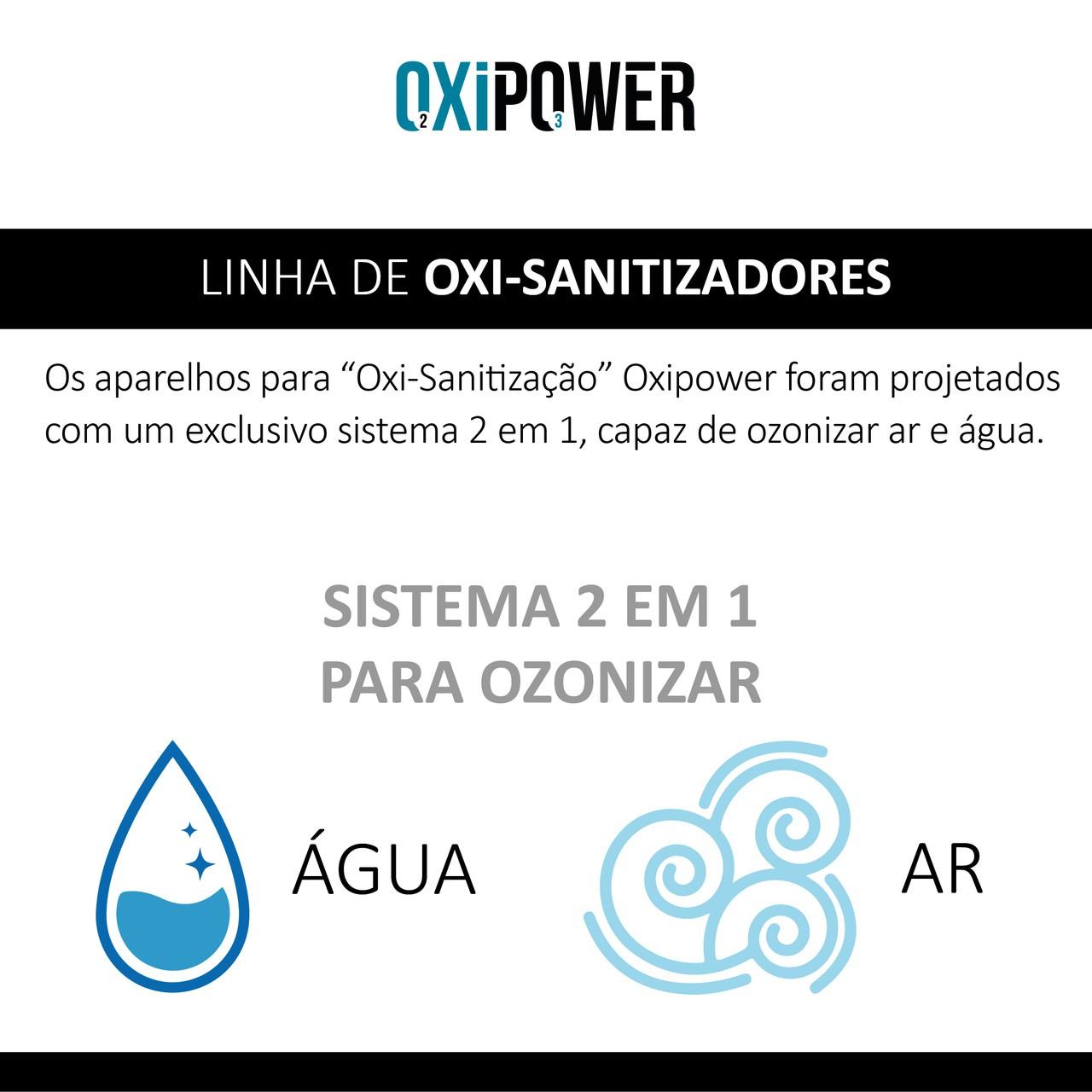 OXPW 13 - OXI-SANITIZADOR 2X1 PARA OZONIZAR AR E ÁGUA - OXI 500.100 + 12 VOLTS